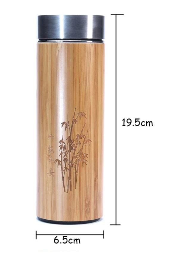 Stainless Steel Bamboo Tea Thermos