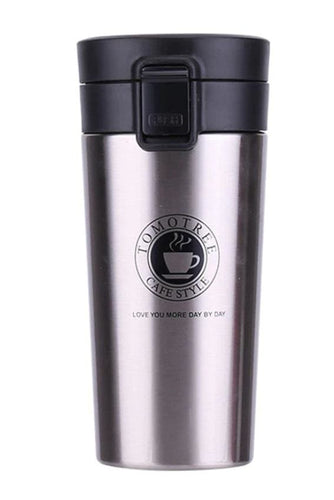 Stainless Steel Thermo Coffee Cup (5 Colors) - Metal