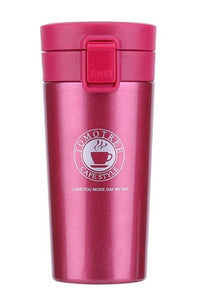 Stainless Steel Thermo Coffee Cup (5 Colors) - Red