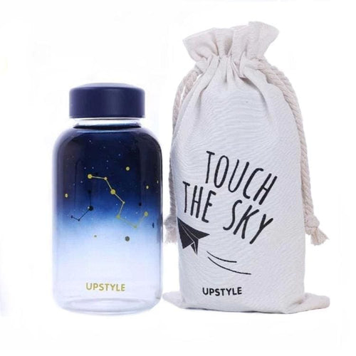 Touch The Sky 600ml Glass Water Bottle (2 Styles) - Night