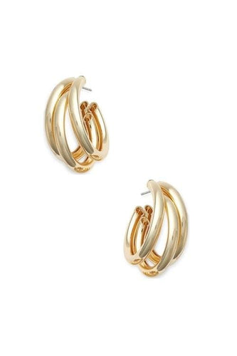 Triple Hoop Earrings (2∙Colors)