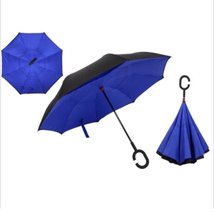Windproof Reverse Folding Umbrella (27 Colors) - Dark Blue