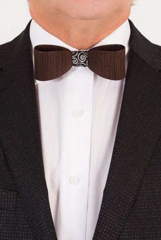Wooden Bow Tie + Cufflinks Gift Set