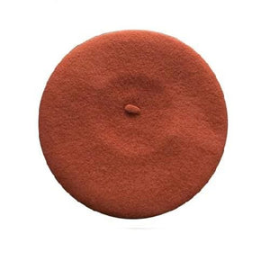 Wool Beret (7 Colors) - Rusty Red