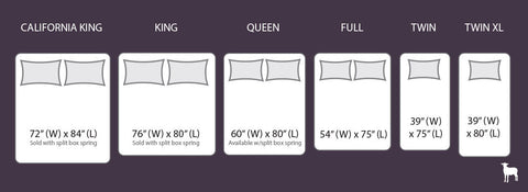 Mattress Size Chart Twin Full Queen King California King