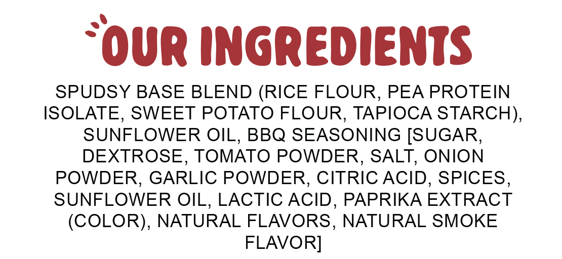 Ingredients for Spudsy Bangin' BBQ Puffs
