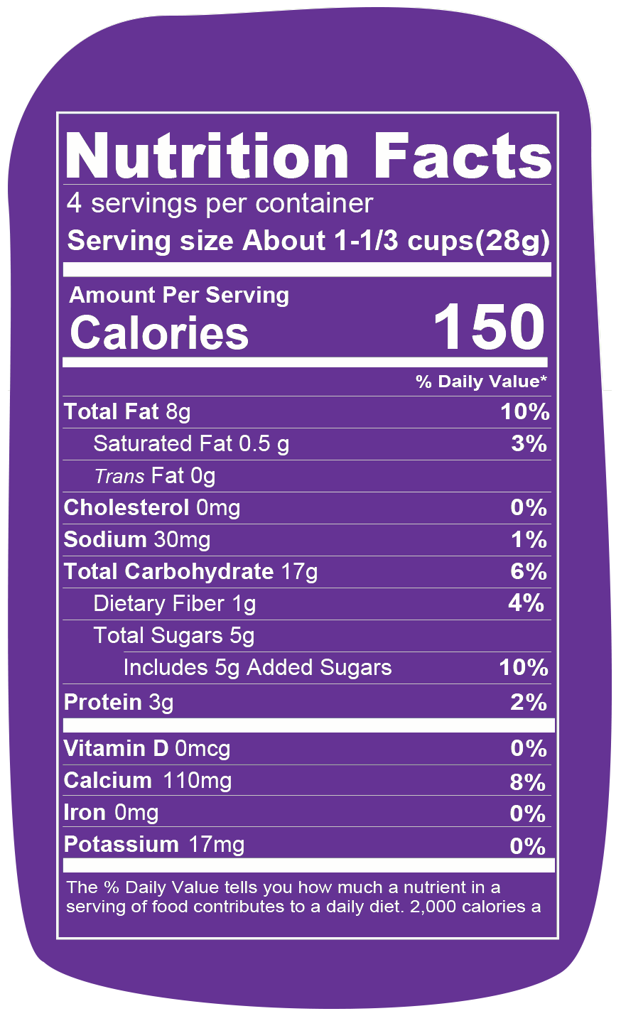 Nutrition info for Spudsy Cinnamon Churro Puffs