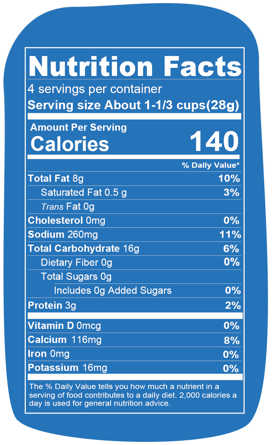Nutrition info for Spudsy Vegan Buffalo Ranch Puffs