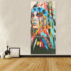 Canvas Native American Woman