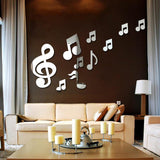 Musical Notes Mirror (adhesive)