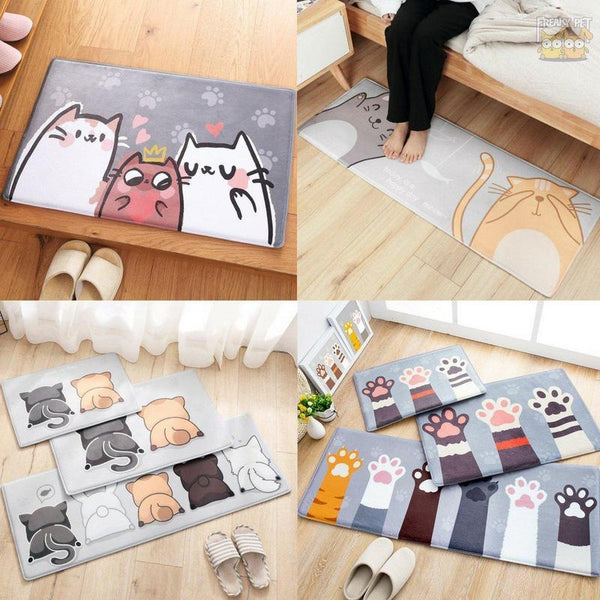 Cute Adorable Cat Anti-slip Doormat-Home-FreakyPet