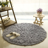 Fluffy Long Hair Round Rug- 9 Colors
