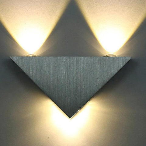 Modern Aluminum Body Triangle Led Wall Light