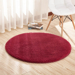 Round Shape Fleece Rug