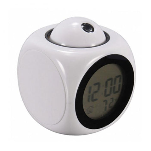 Digital LCD Display Voice Talking Projection Alarm Clock