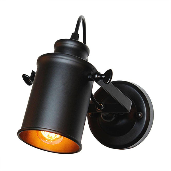 Wall Mounted Vintage Black Lamp Warm Lighting
