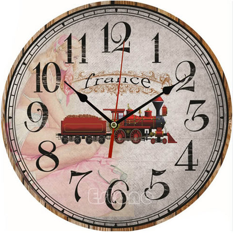 Antique Vintage Wooden Wall Clock