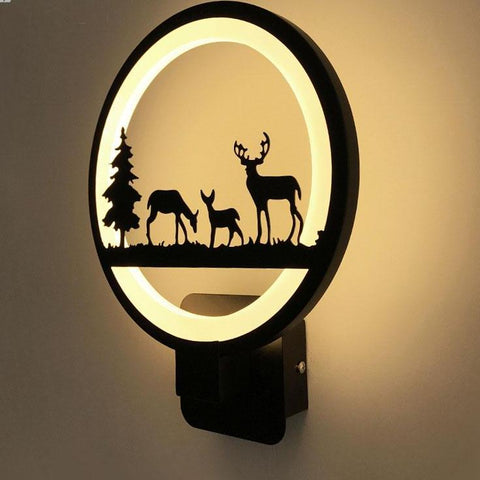 Black Acrylic Led Wall Lamp