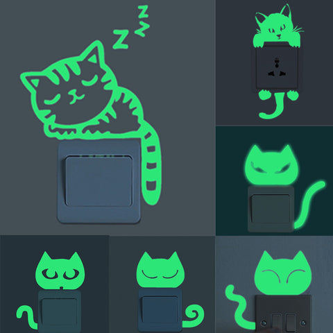 Cute Luminous Cat Switch Sticker