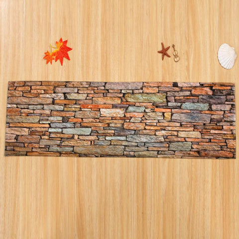 Rectangle Polyester Fiber Soft Stone Rug