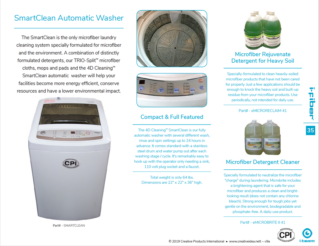 SmartClean Automatic Washer Literature