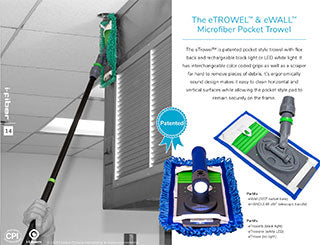 The eTROWEL and eWALL Microfiber Pocket Trowel Literature