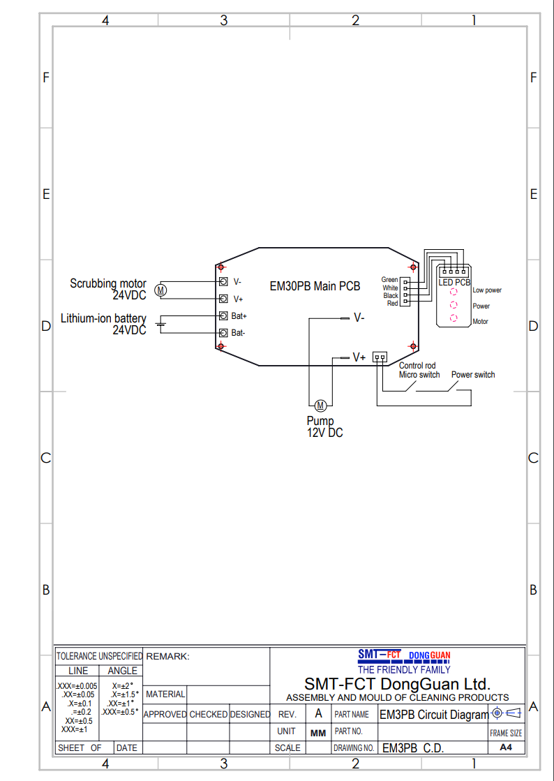 i-scrub30EM B electrical diagram