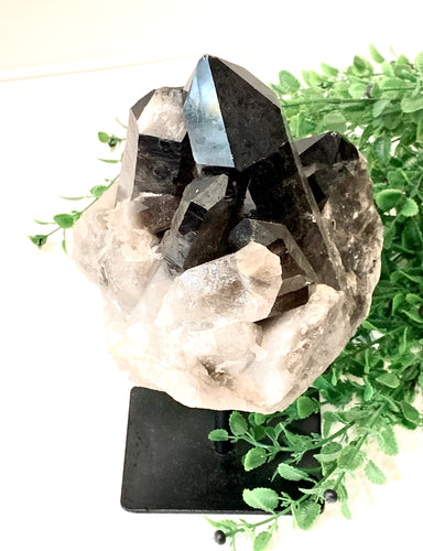 Large Smoky Quartz on Stand