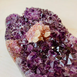 Amethyst Crystal with Flower
