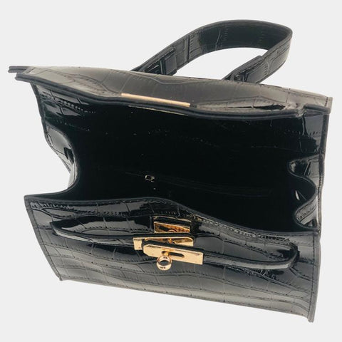 Nina Black Crossbody Bag