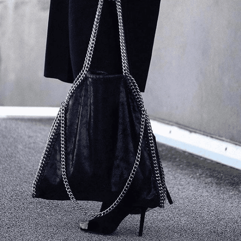 Isabel Black Chain Shoulder Bag