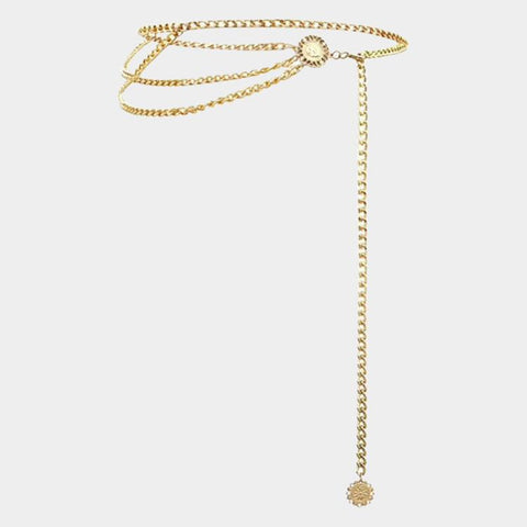Zally Golden Body Chain Belt