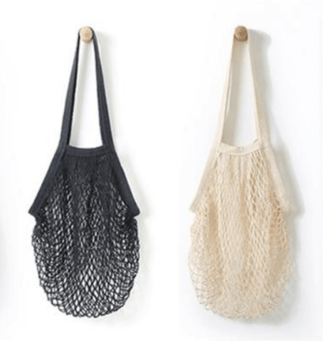 Net String Bag Black