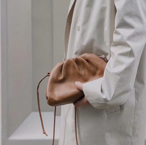 Paris Brown Curled Bag