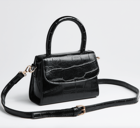 Saga Fur Black Crossbody