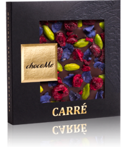 chocoMe Carré Dark Chocolate Electric Violet