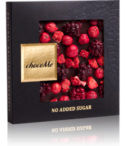 chocoMe Carré Dark Chocolate Special No Added Sugar