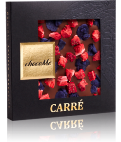 chocoMe Carré Milk Chocolate Vivacious Violet