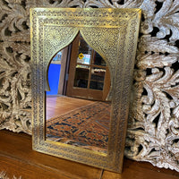 Moroccan Mehrab Mirror - Large, Gold