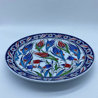 Turkish Plate 22cm - Blue Tulip