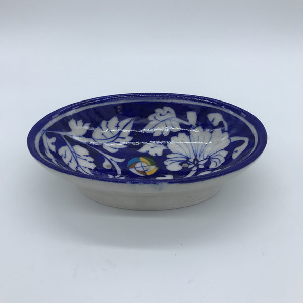 Soap Dish Small - Blue & White