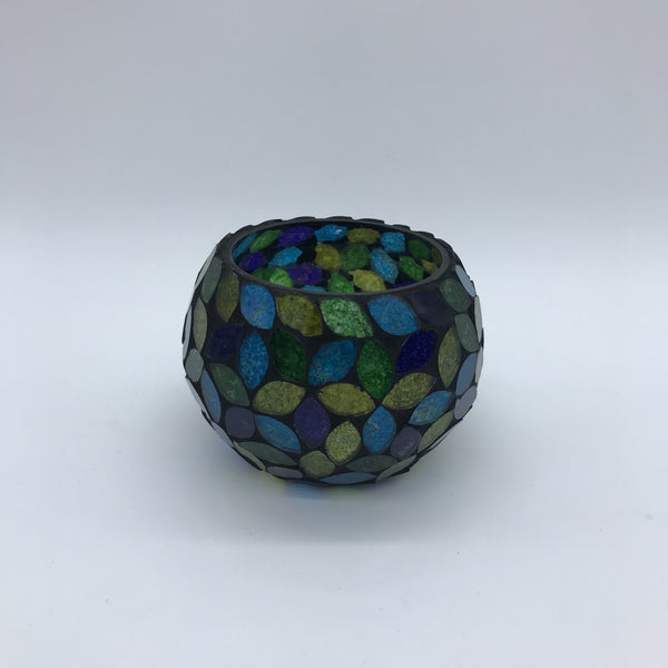 Indian Mosaic Tea Light - Blue/Green