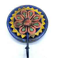 Wooden Flower Hook - Red and Yellow