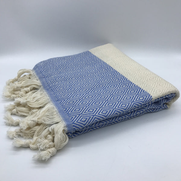Turkish Towel Diamond Dark Blue