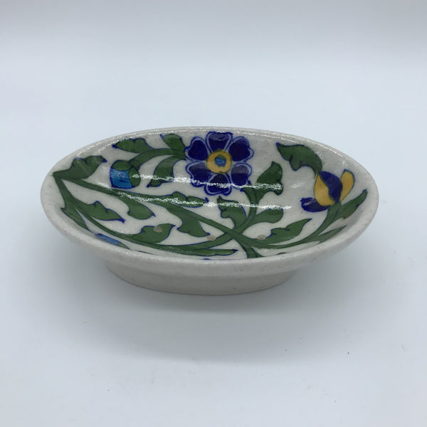 Soap Dish Small - White & Green