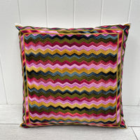 Embroidered Cushion - Zigzag