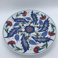 Turkish Plate - Red Carnation, 25cm