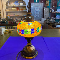 Turkish Mosaic Table Lamp - Orange Star