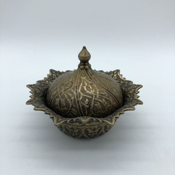 Turkish Metal Sweets/Sugar Bowl - Bronze