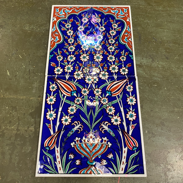 Turkish Tile - 2 pce Tulip and Vase 1